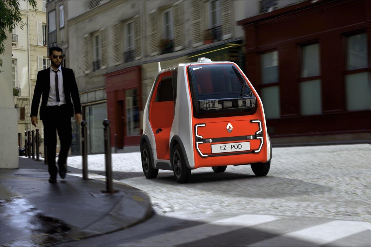 Renault-Studie EZ-POD: Neues Mini-Mobil für sehr kurze Strecken