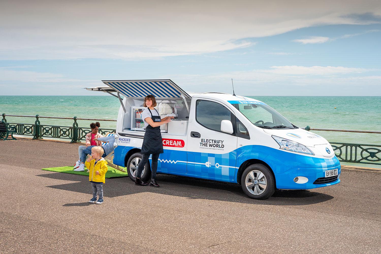 Nissan: Elektro-Eiswagen für den Umweltschutz