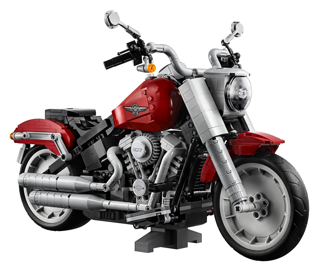 """Harley Davidson: """"Fat Boy"""" aus LEGO-Klötzchen"""