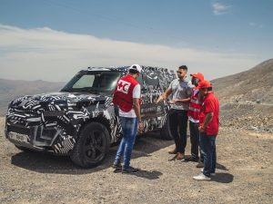 Land Rover Test-Finale für neuen Defender in Dubai