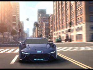 Audi: Ein e-tron für die Leinwand