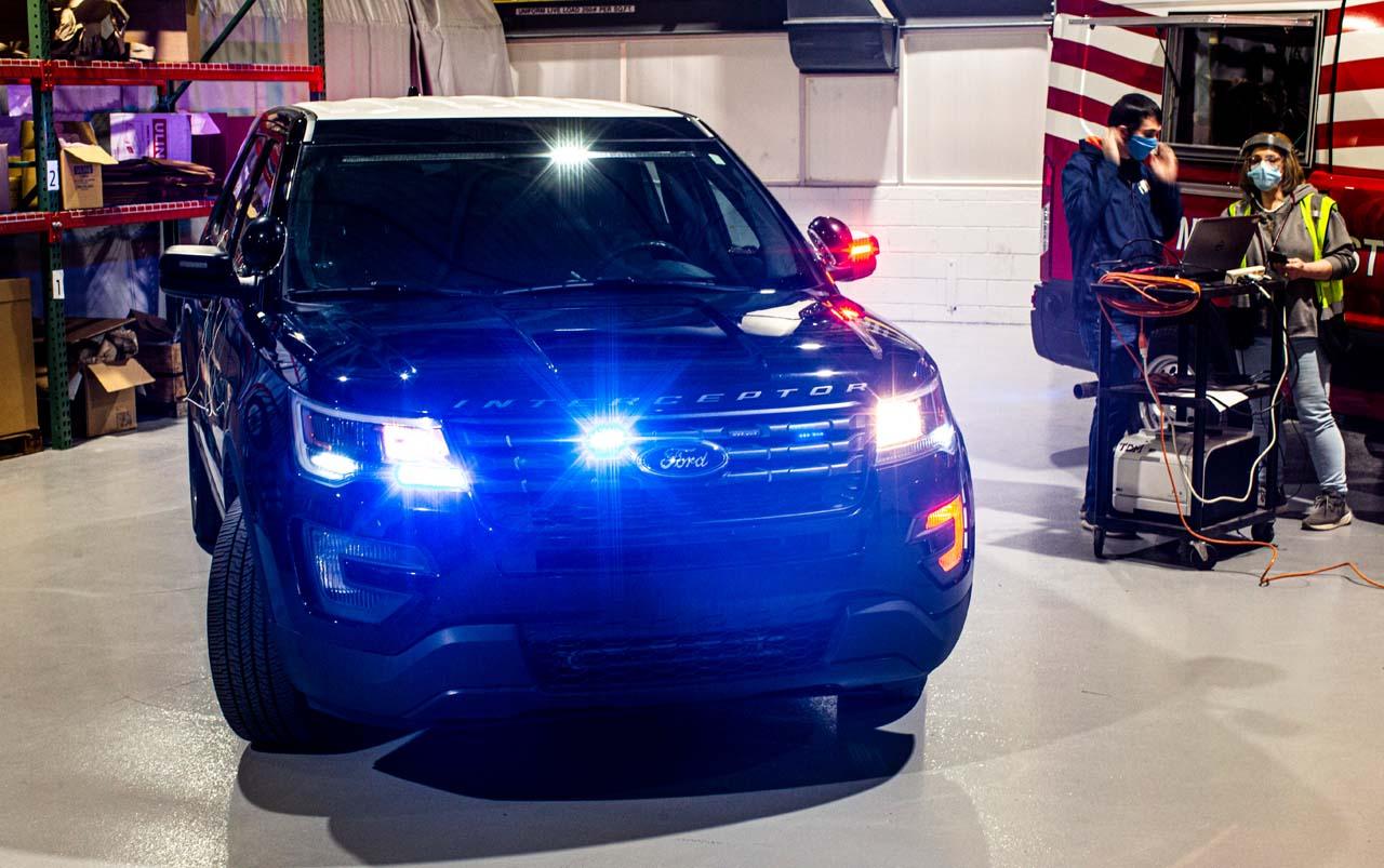 Ford-Polizeiwagen: Desinfektion per Hitze