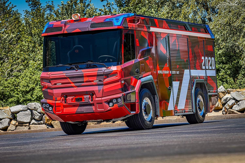 Elektrisches Feuerwehrauto: Ohne Verbrennung zum Feuer