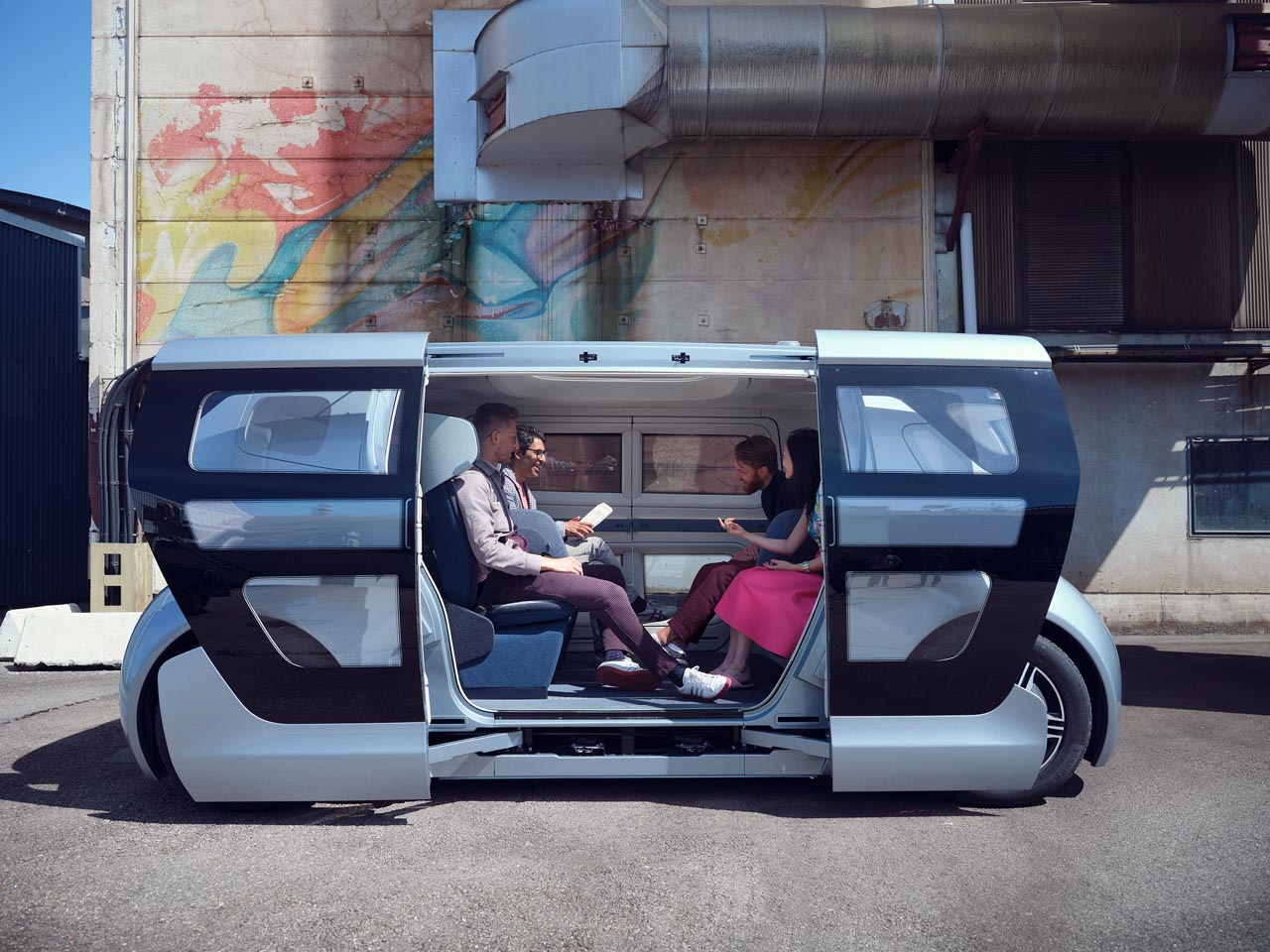 NEVS: Carsharing-Konzept für Selbstfahr-Shuttle