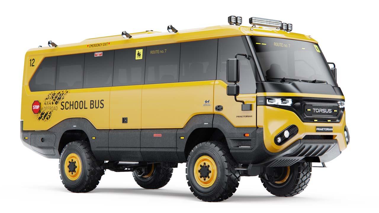 Torsus: Schulbus für unbefestigte Wege