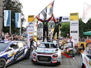 Zwei Champions in KÜS-Farben bei der Saarland-Pfalz-Rallye