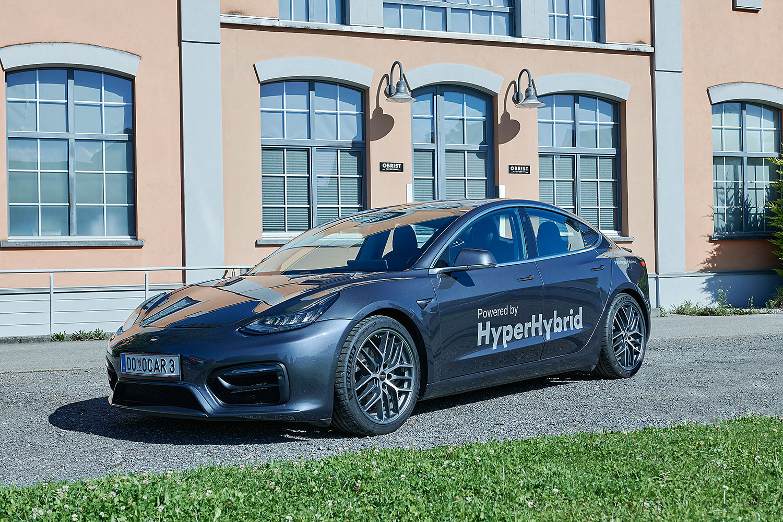 Obrist Hyper Hybrid: Verbrennungsmotor im Tesla